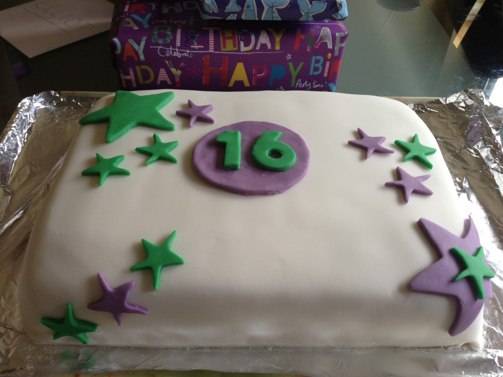 Celebration cake, gluten and dairy free