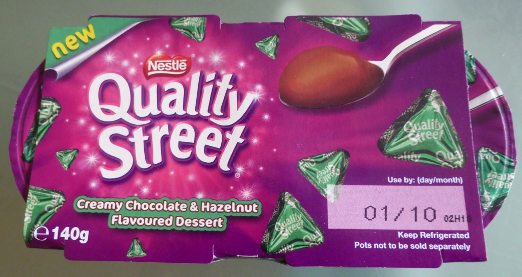 Quality Street Green Traingle desserts