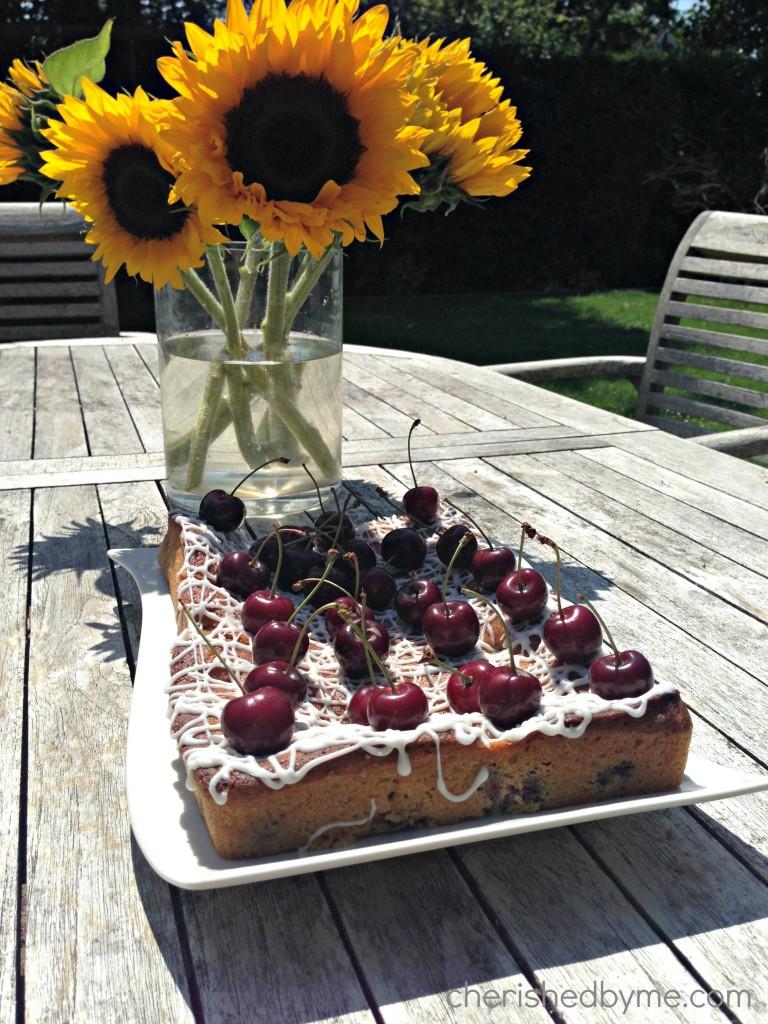 Cherry & Vanilla traybake