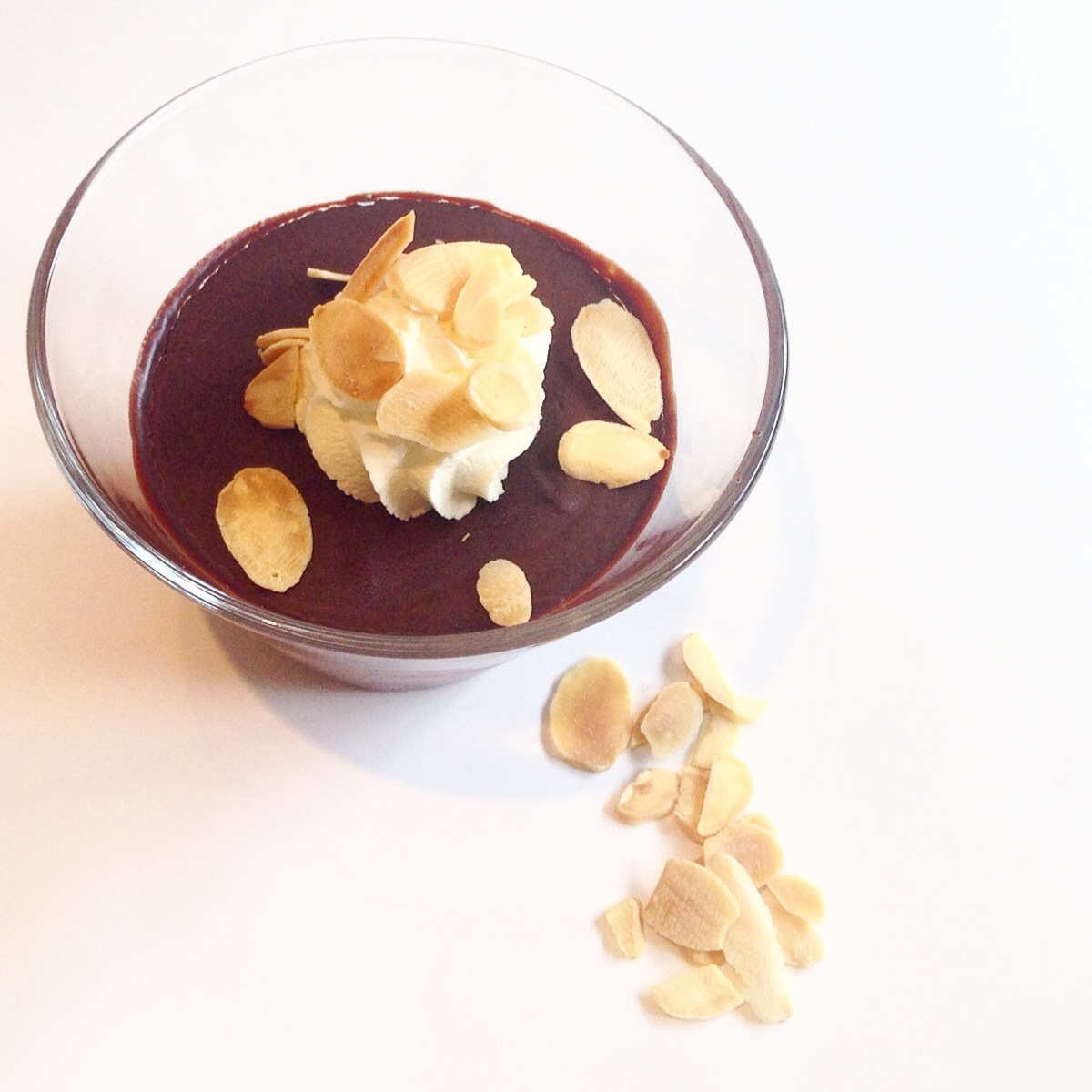 Chocolate almond pots