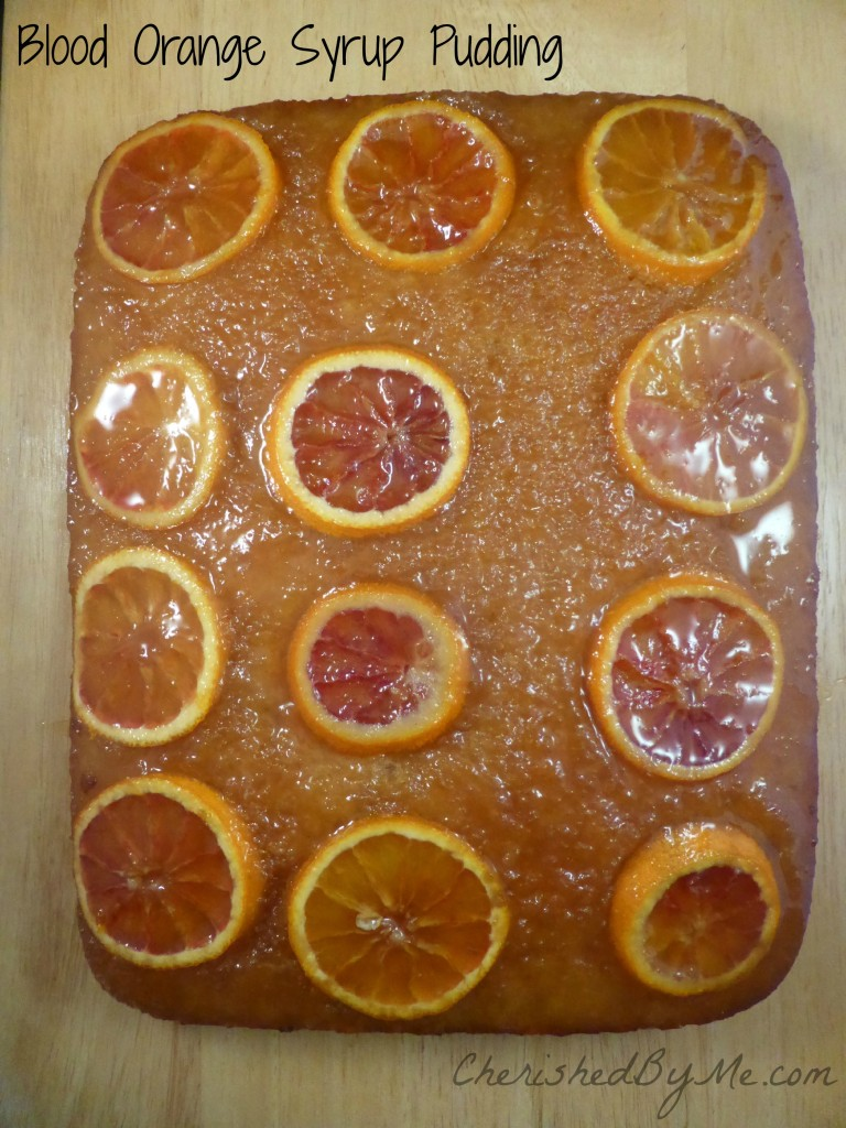 Blood Orange Syrup Pudding