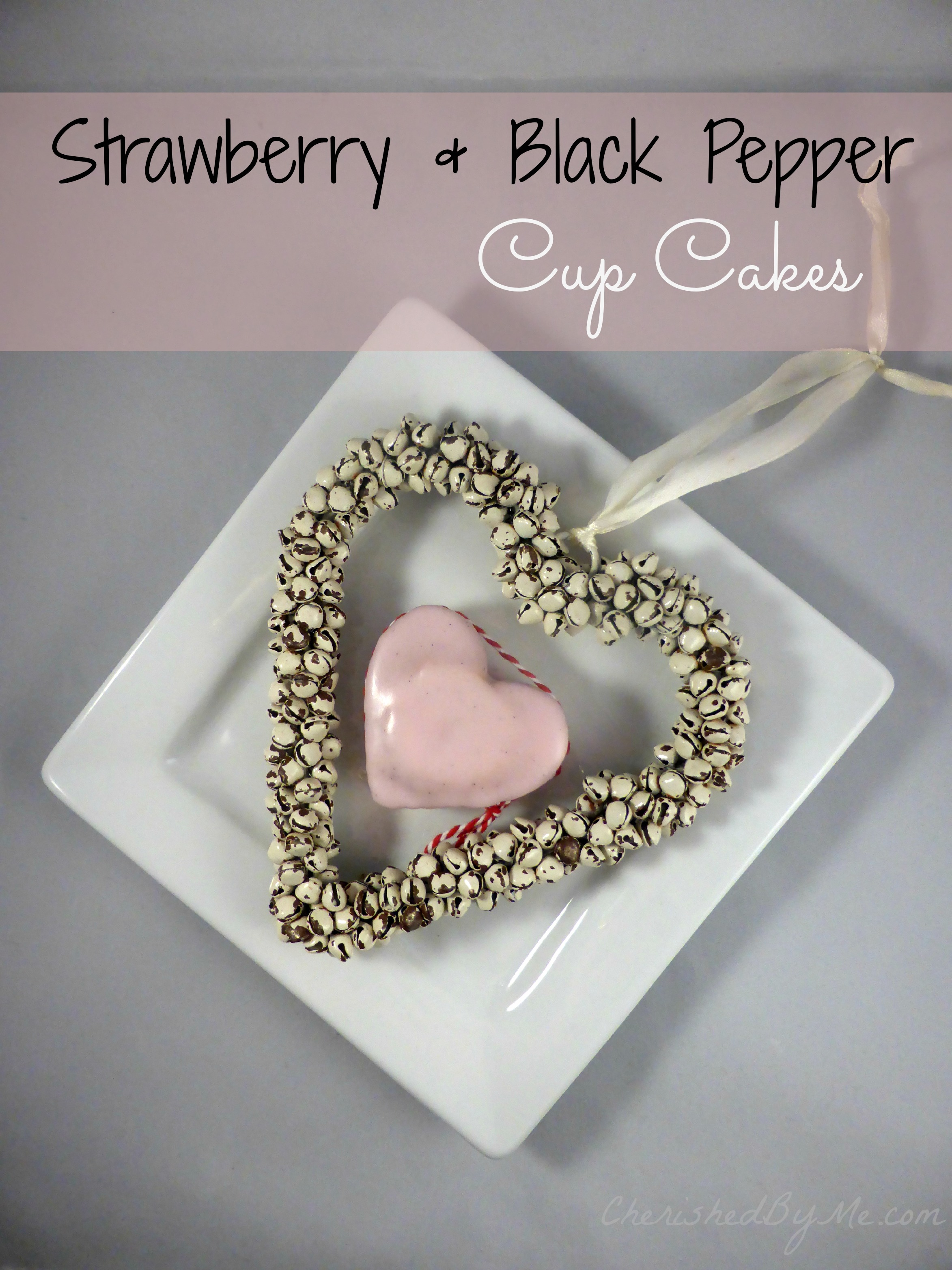Strawberry and Black Pepper Cupcakes