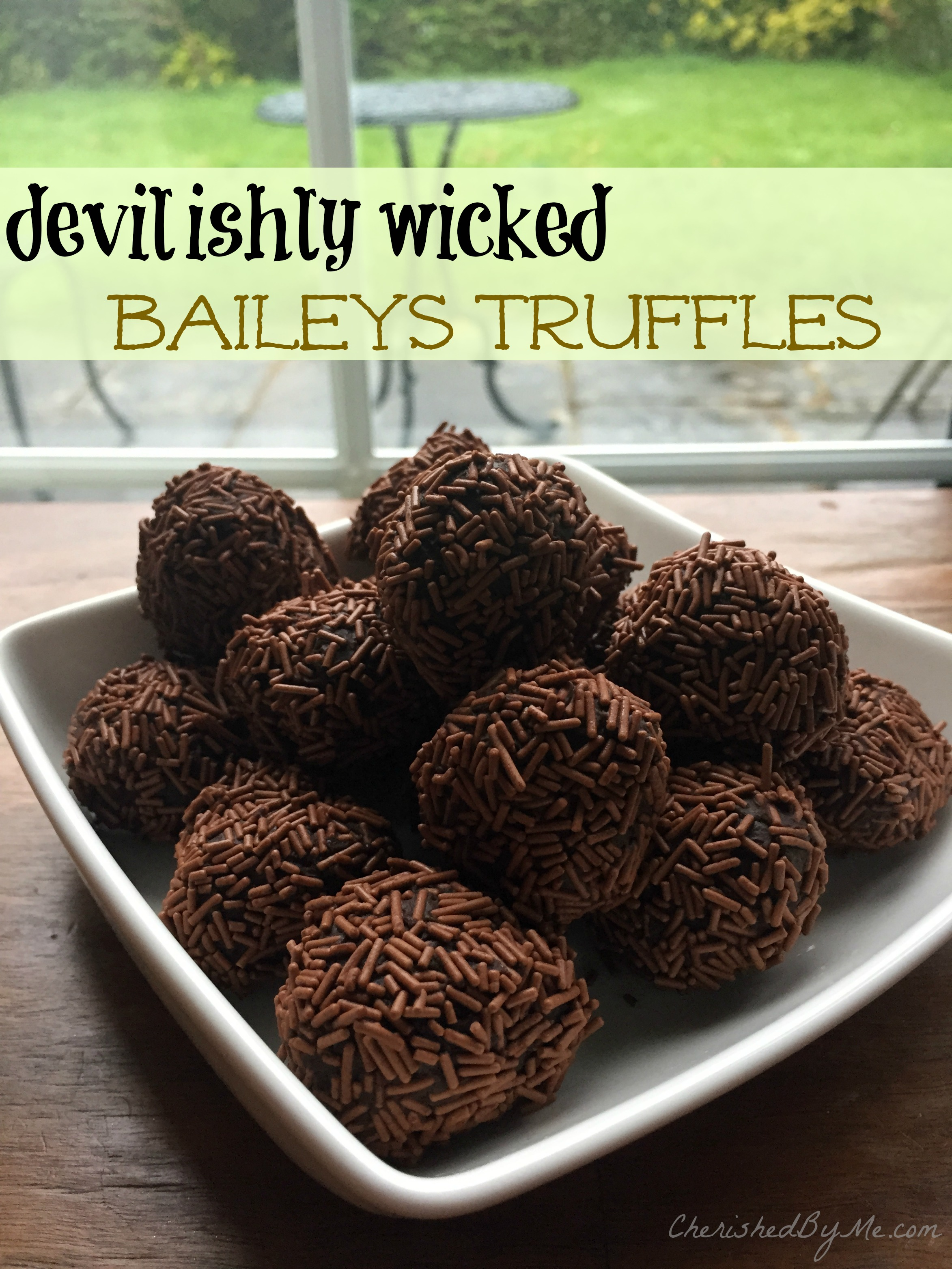 Devilishy wicked Baileys Truffles