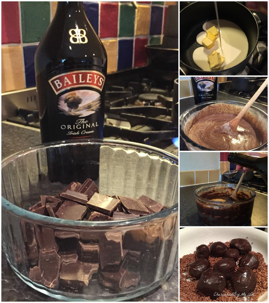 Making Baileys truffles
