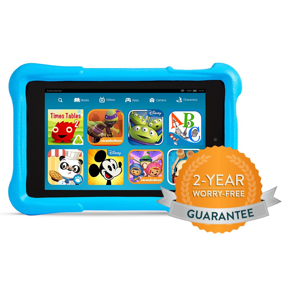 Fire HD Kids Edition_Worry Free Blue