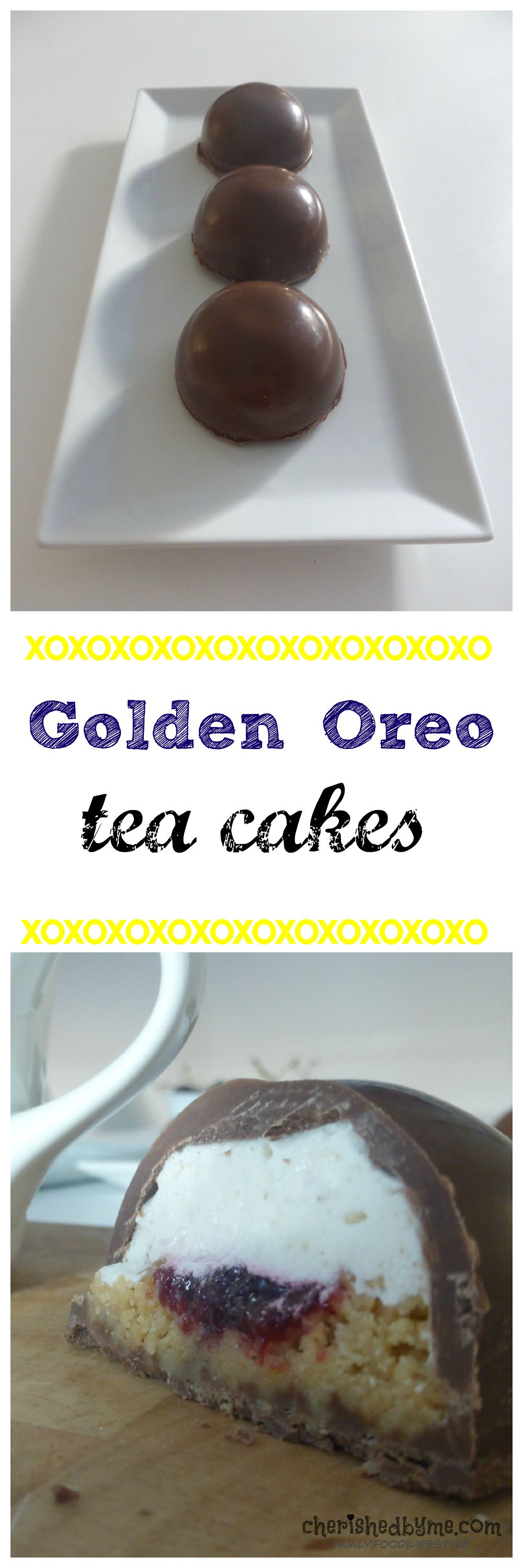 an easy recipe for tea cakes using golden Oreos