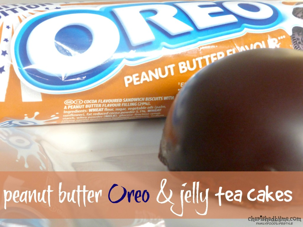 peanut butter Oreo & jelly tea cakes