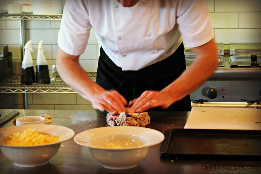 Chef Gill Mellor making soda bread at River Cottage