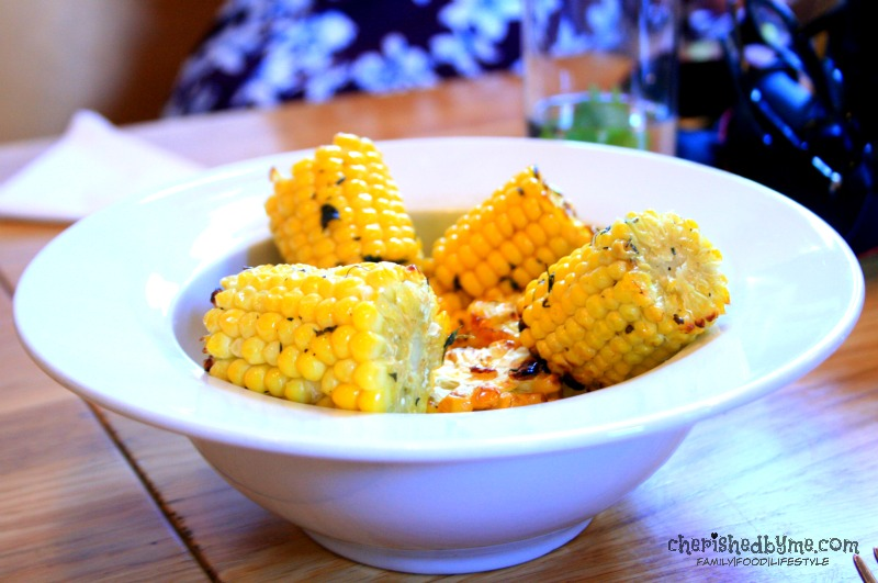 gorgeous corn on the cob served at River Cottage