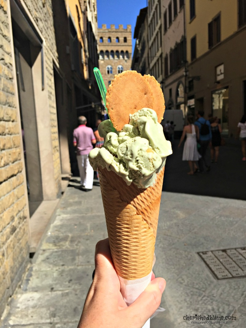 Gorgeous gelato everywhere in Florence! My favourite flavour pistachio