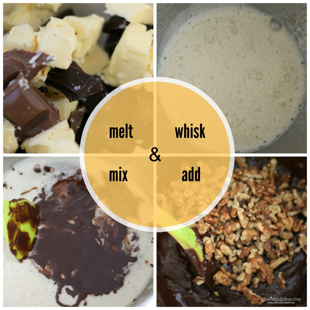 Making my yummy chocolate walnut and marshmallow brownies couldn't be easier