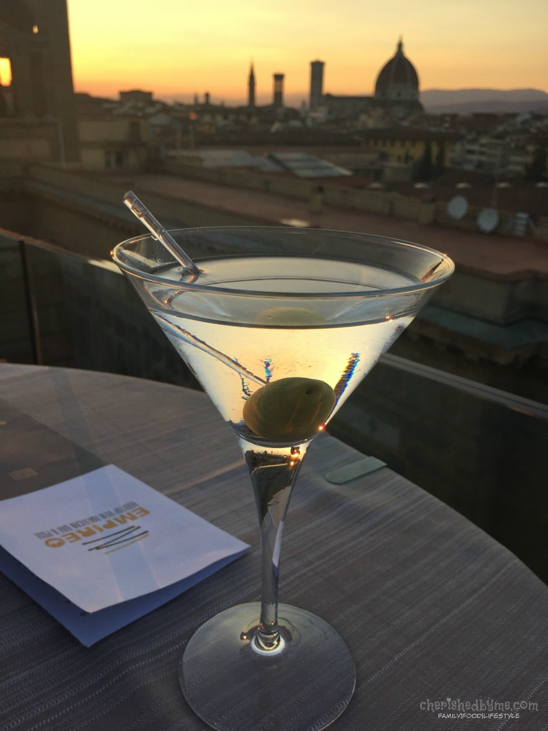 Martini with a view, overlooking the Duomo in Florence, Italy