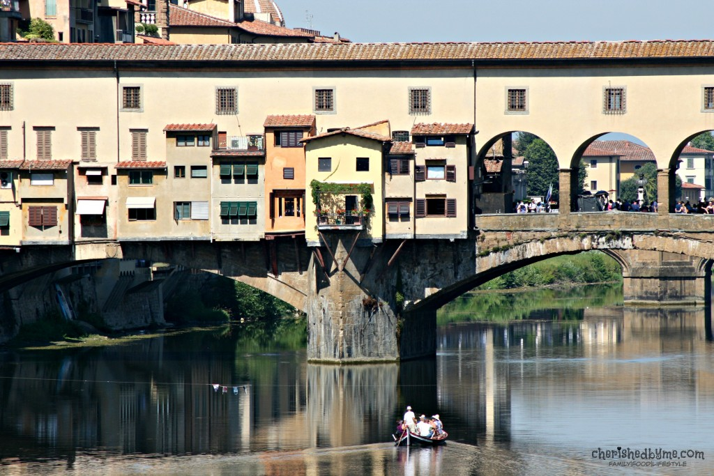 The famous Medieval bridge in Florence, Italy, The Ponte Vecchio