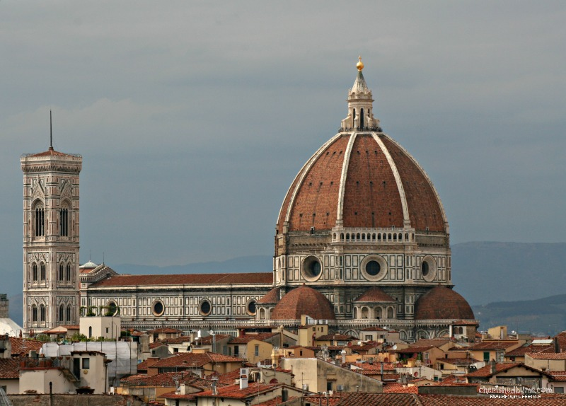 The view of the cathedral and Duomo from the Plaza Lucchesi Hotel, Florence, Italy