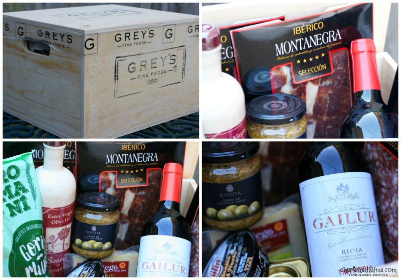 A tasty Spanish food hamper from Grey's Fine Foods- Cherished By Me