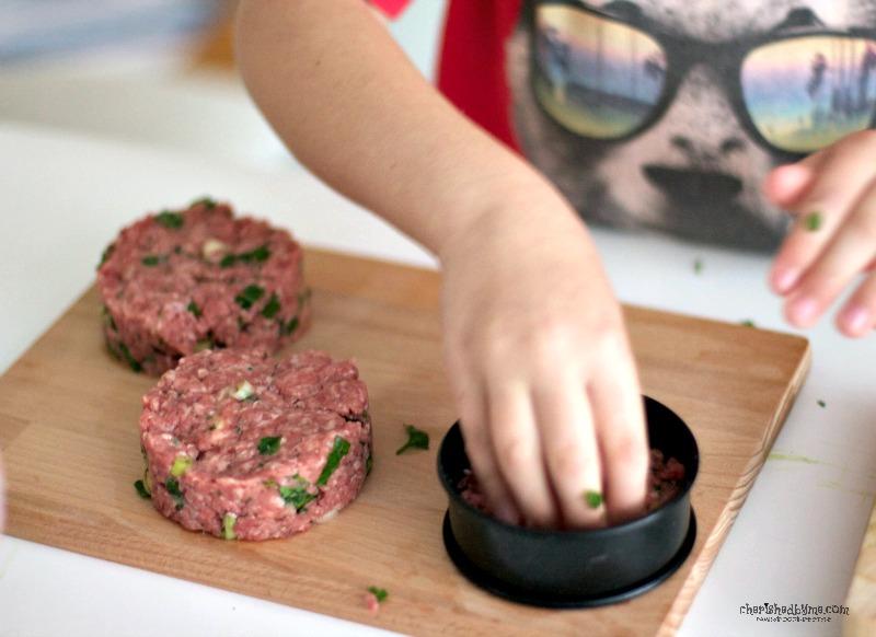 Mozzarella burgers for kids teatime takeover