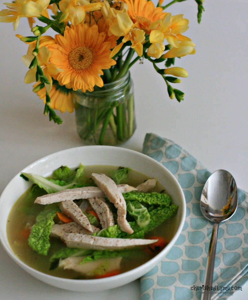 Make this delicious chicken soup with the Sunday roast leftovers- Cherished By Me