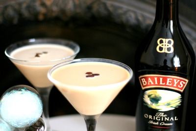 A flat white martini with Baileys- Cherished By Me