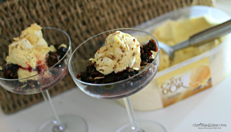 A great Christmas dessert- Christmas Pudding Sundae- Cherished By Me