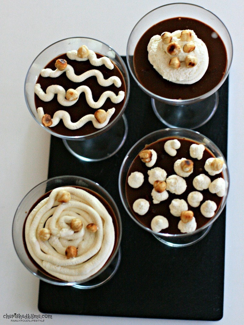 A super quick dessert- Baileys Chocolate Pots- Cherished By Me