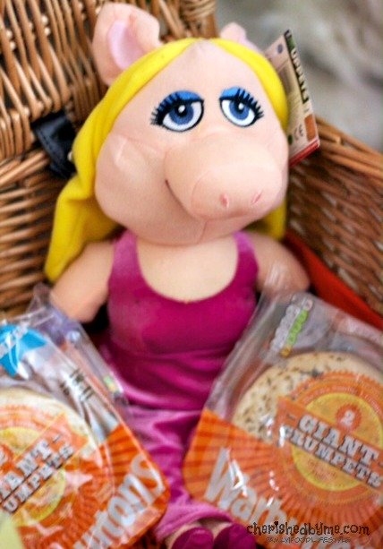 Miss Piggy eating Warburtons Giant Crumpets- Cherished By Me
