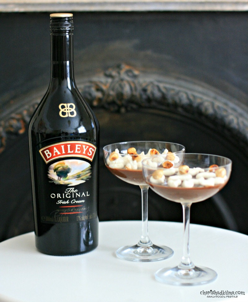 Mmmm, Baileys Chocolate Pots with Baileys Cream- Cherished By Me