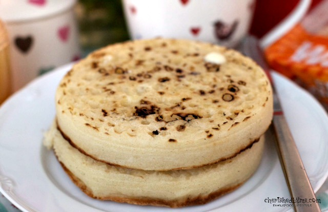 Mmmm, giant crumpets from Warburtons- Cherished By Me