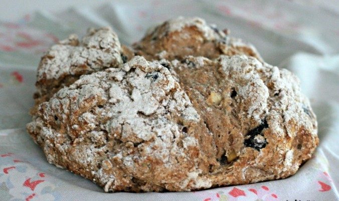 A very quick and tasty Apple and Blueberry spelt soda bread- Cherished By Me