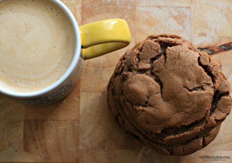 For those days when nothing but cookies and coffee will do- Nutella Chocolate Chunk Cookies- cherishedbyme.com