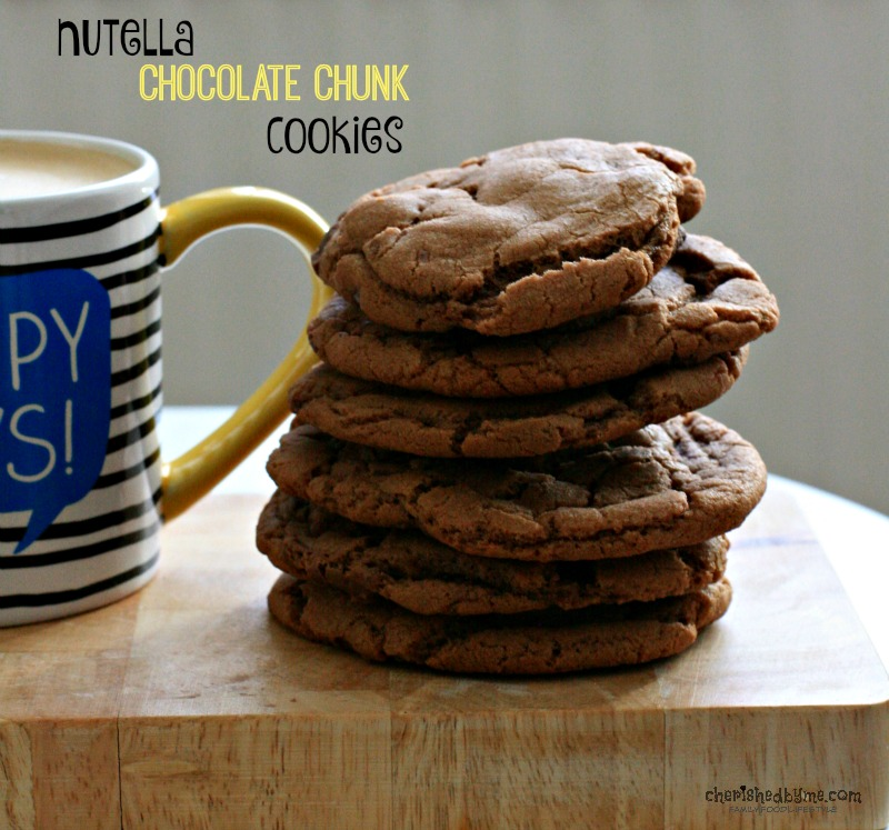 Nutella Chocolate Chunck Cookies, delicious- Cherished By Me