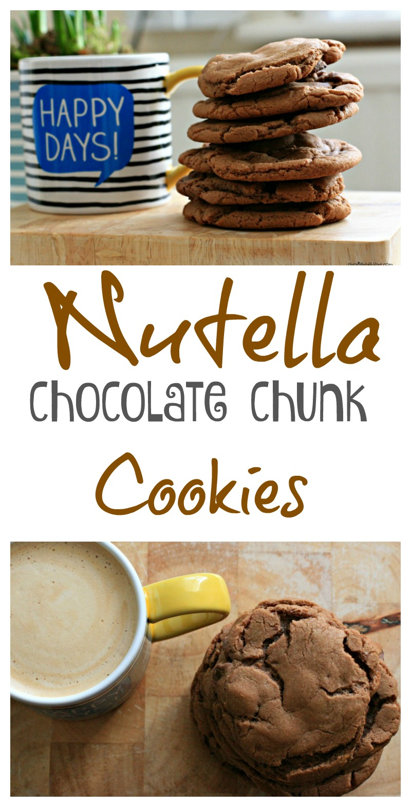 Nutella Chocolate Chunk Cookies- cherished by me