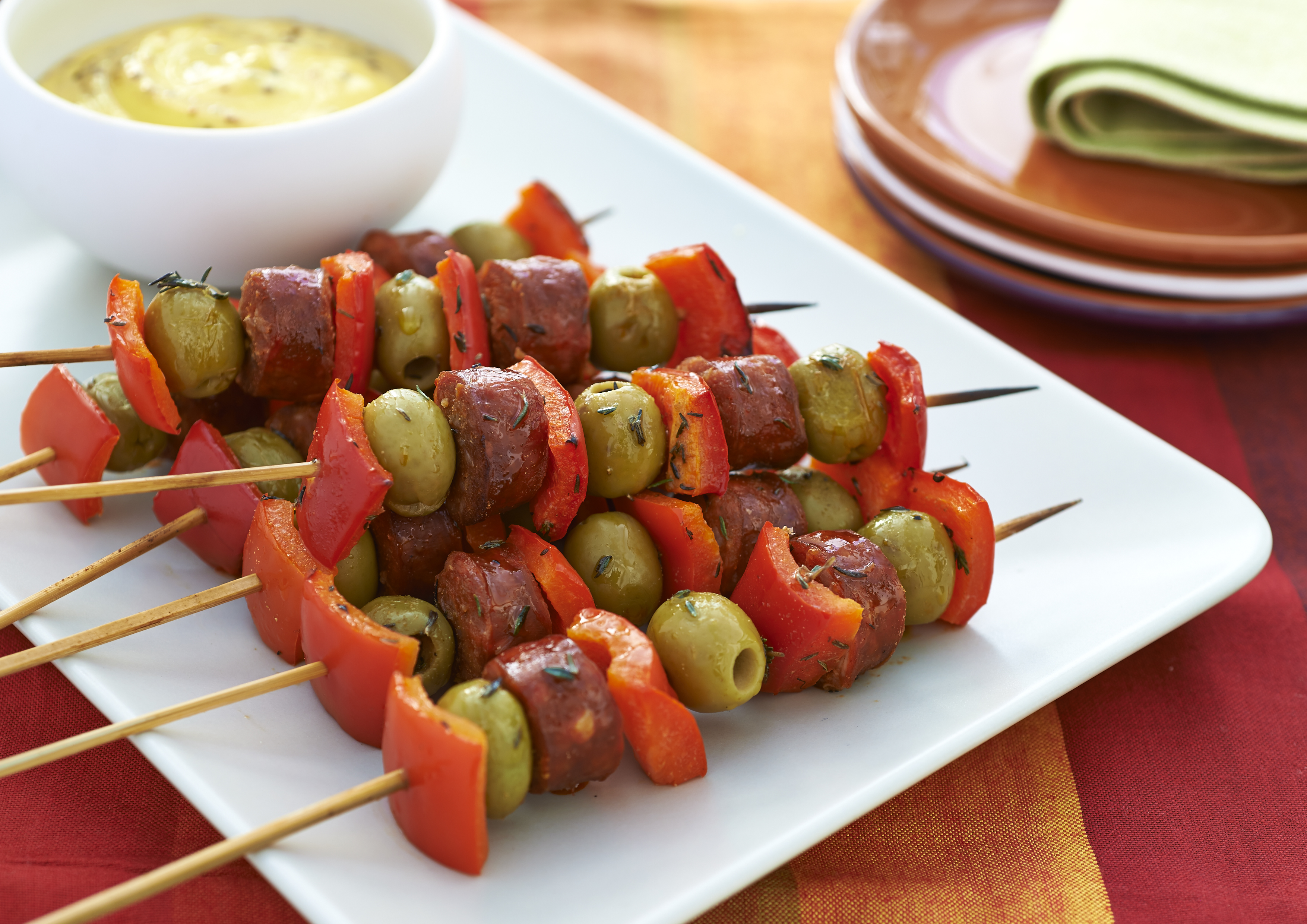 Chorizo & Olive Skewers & win an Olive it! recipe book - Cherished By...