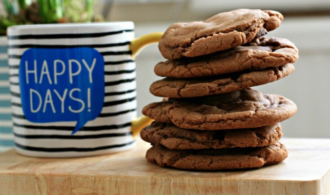 delicious and chewy Nutella chocolate chip cookies- cherishedbyme