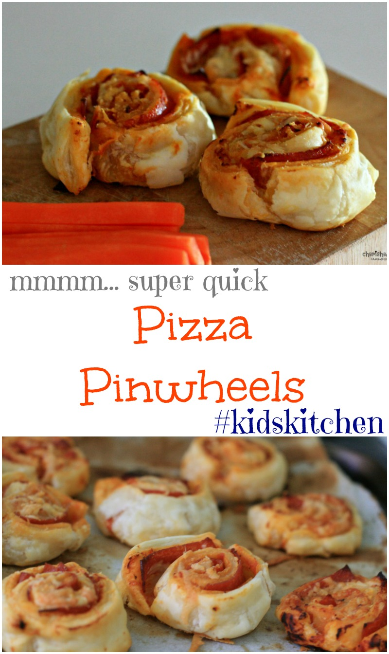 Super Quick Pizza Pinwheels - Cherished By Me