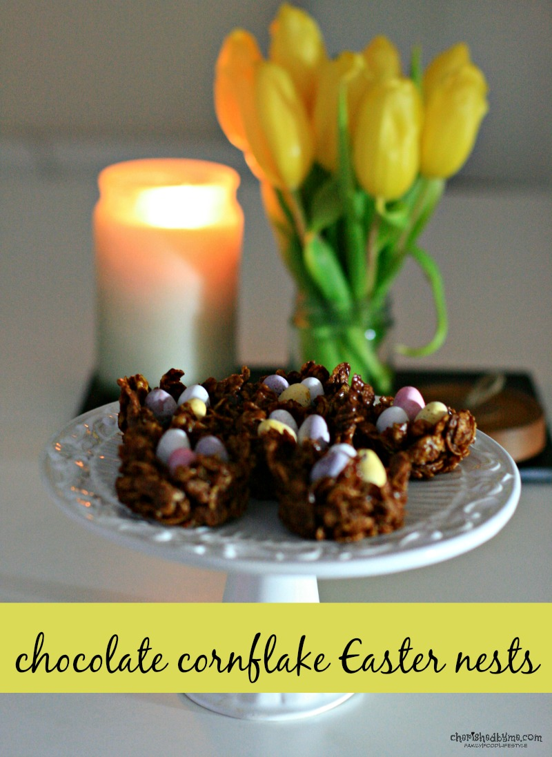 Delicious chocolate cornflake Easter nests- cherishedbyme
