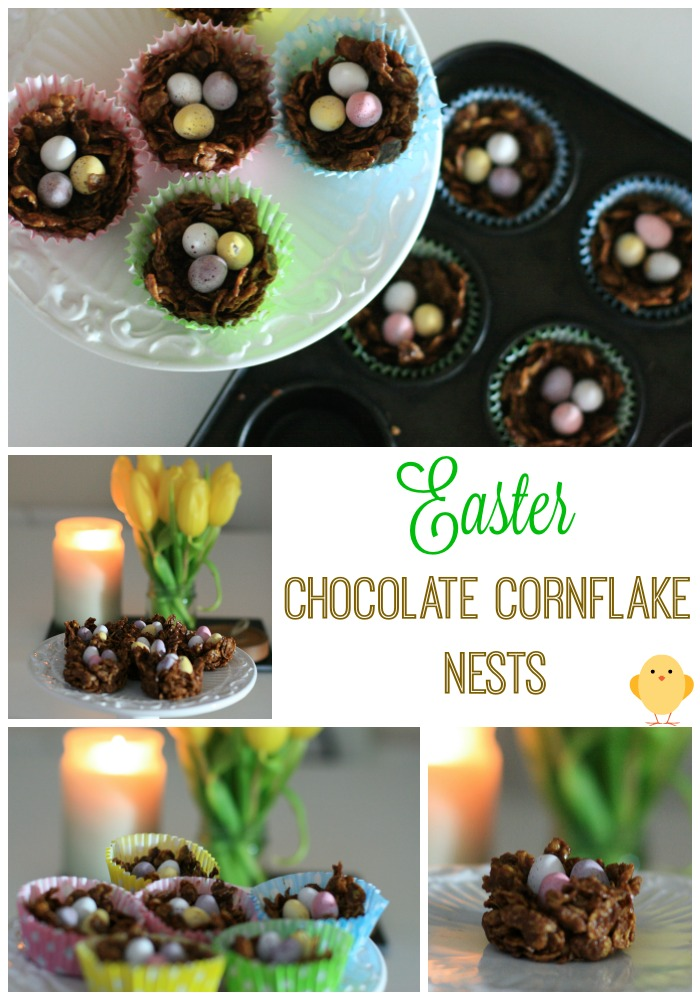 Easter chocolate cornflake nests- cherishedbyme