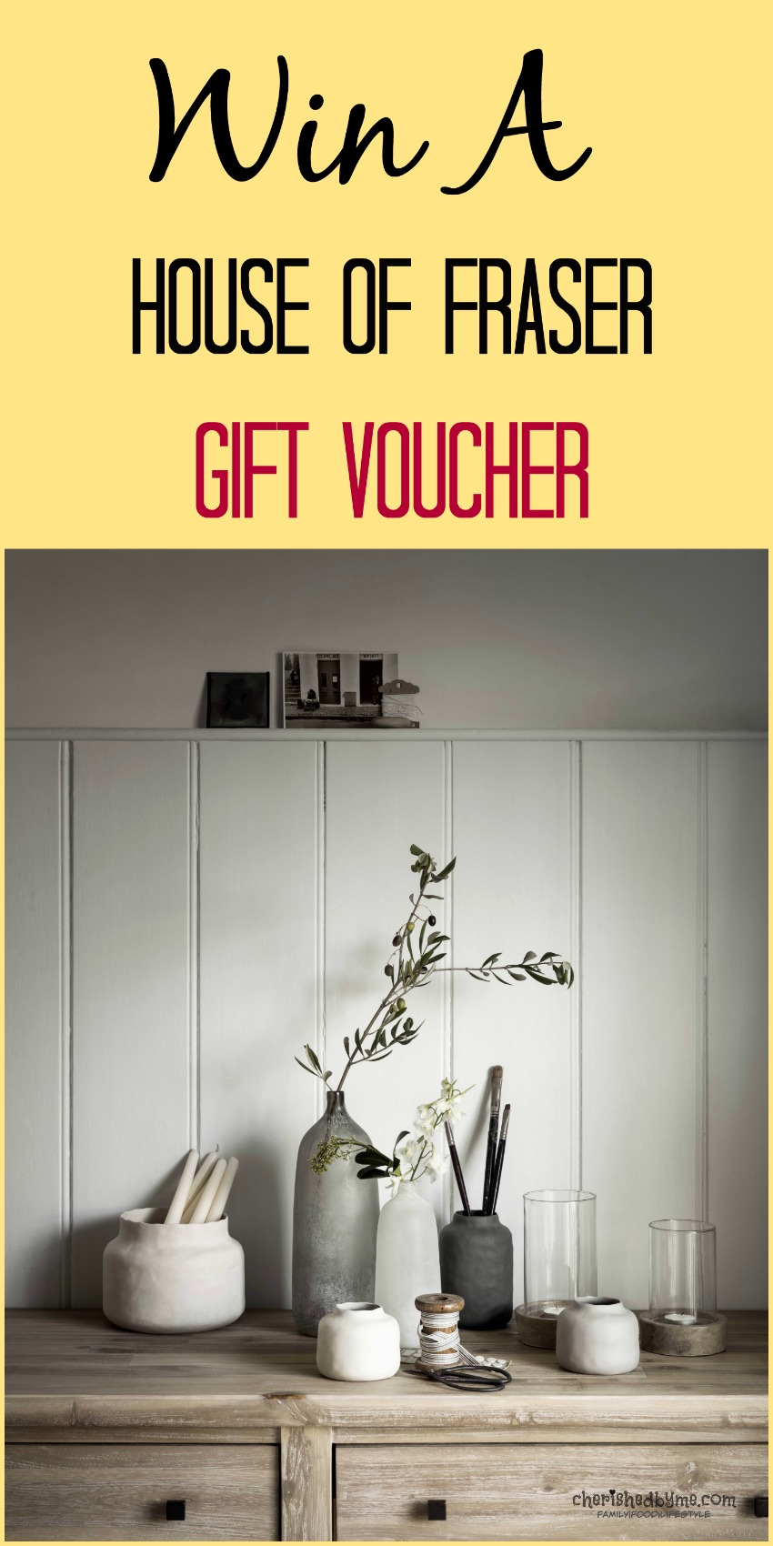 Head over to Cherished By Me for the chance to win a House of Fraser gift voucher to spend online or in store!