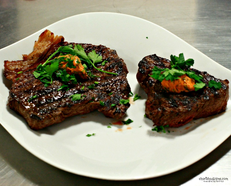 Rump and Bistro Steaks with Paprika Butter- cherishedbyme