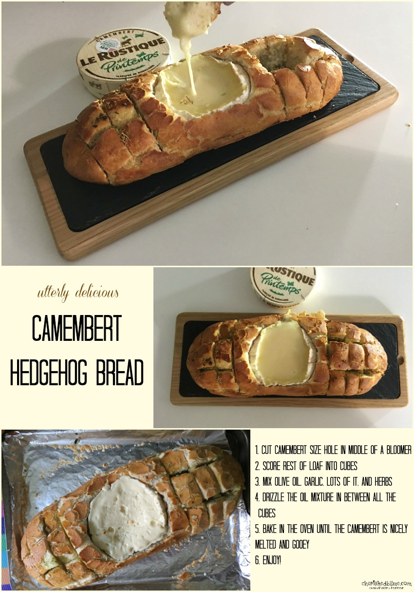 Camembert Hedgehog Bread cherishedbyme.com