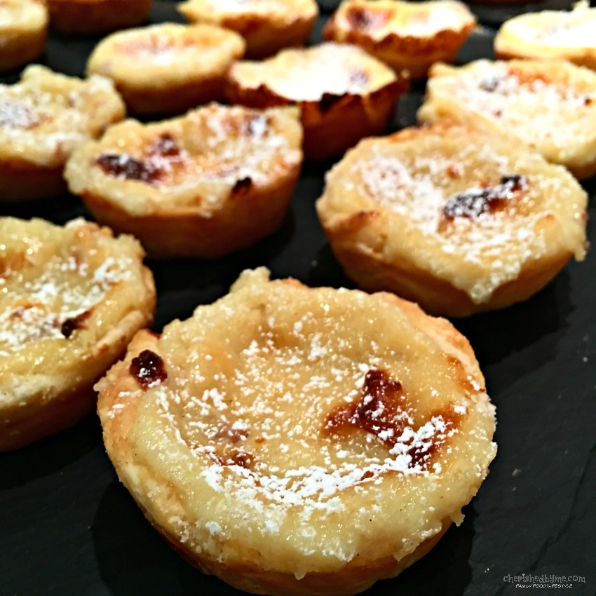 Portuguese Custard Tarts recipe cherishedbyme.com