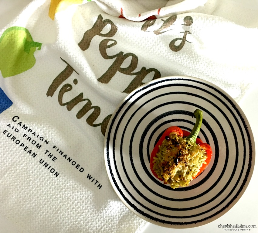 Pesto & Pine Nut Rice Stuffed Peppers. A perfect meal for the whole family cherishedbyme.com