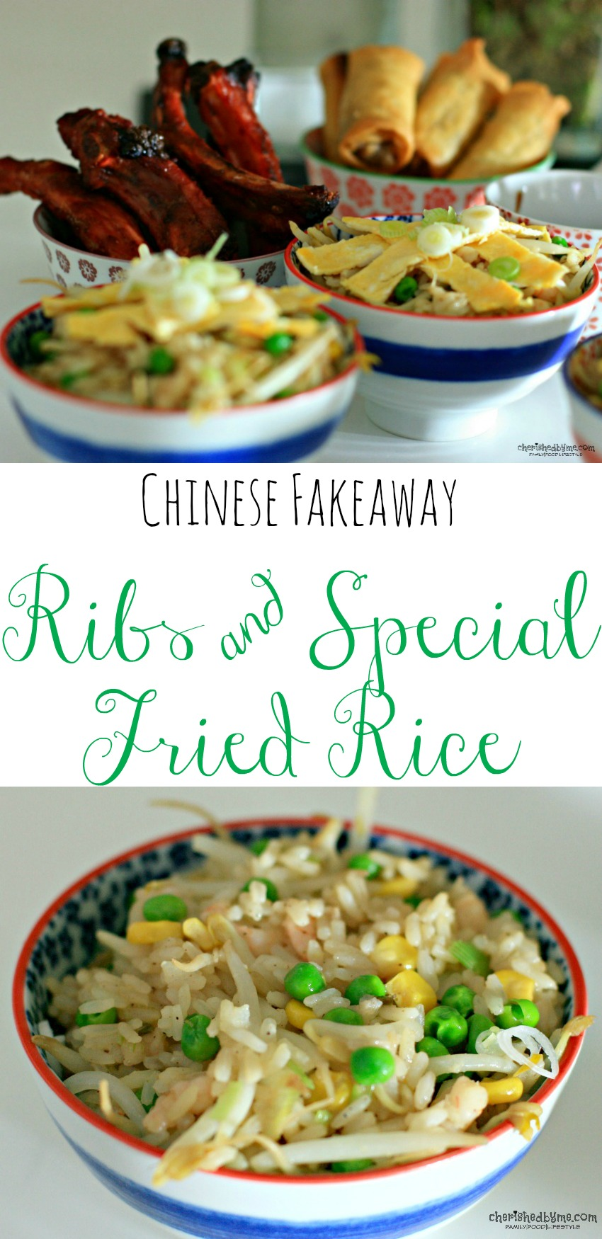 No need to order in make your own Chinese Fakeaway- ribs & special fried rice. Delicious, quick & easy to make cherishedbyme.com