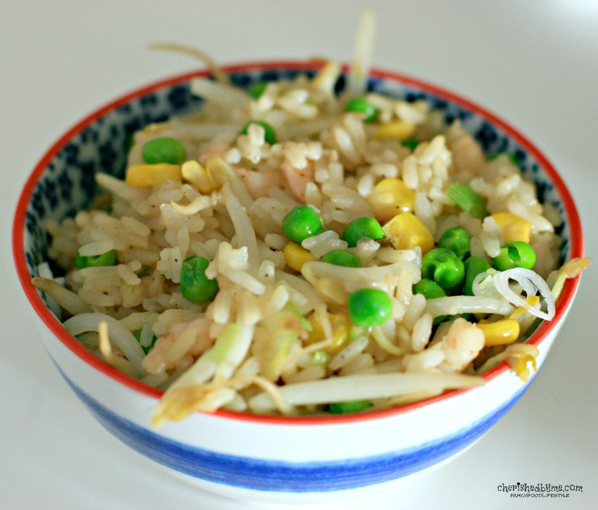 Special Rice Fried, don't order in, make at home. It's far tastier, healthy and it costs very little to make cherishedbyme.com