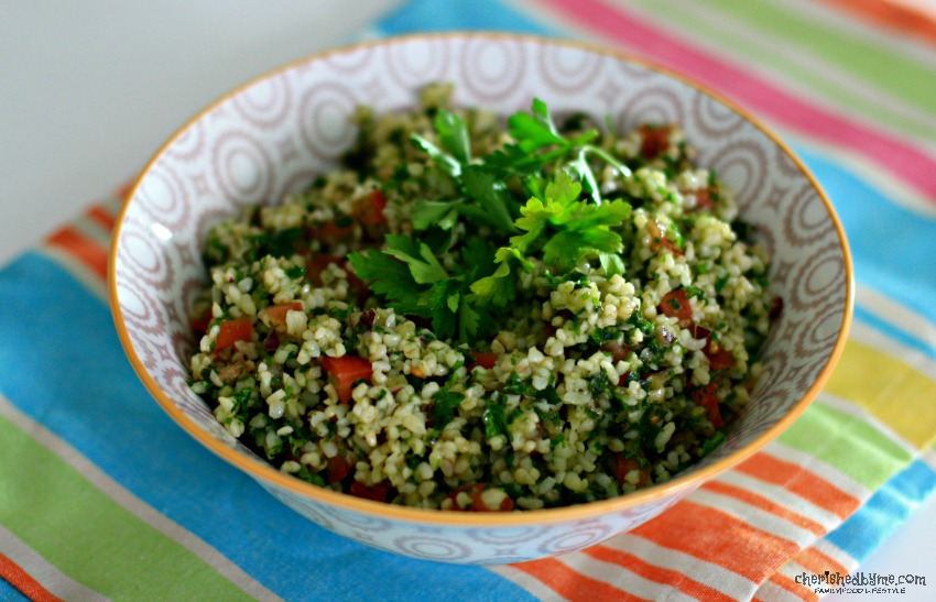The perfect BBQ side, this Bulgar Wheat salad is packed full of flavours cherishedbyme.com