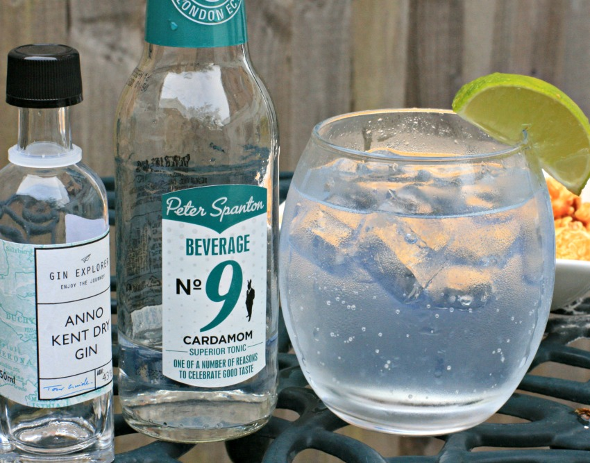 Anno Kent Dry Gin and cardamom tonic water from Gin Explorer- cherishedbyme.com
