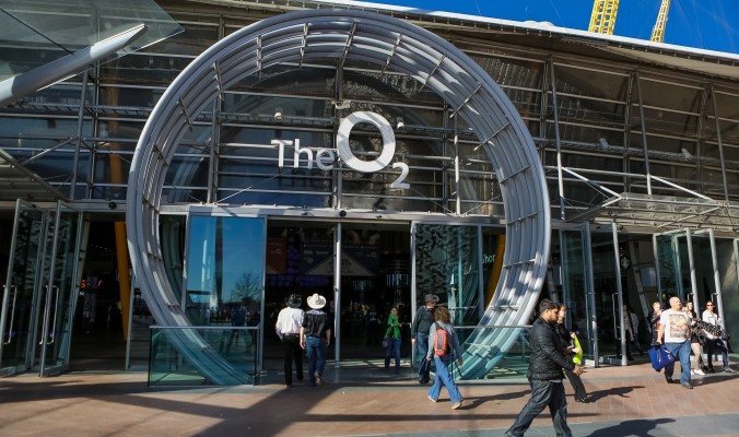 The O2  Main entrance