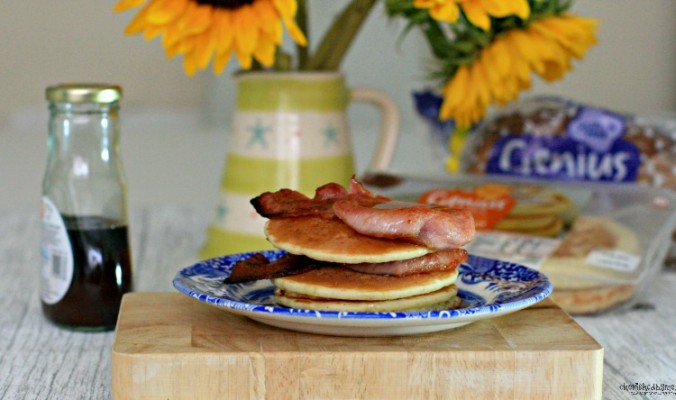 Gluten Free Pancakes and bacon from Genius anyone  cherishedbyme.com