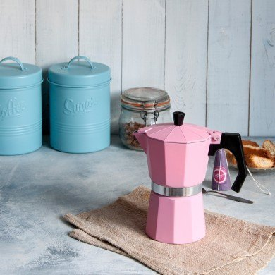 pink espresso coffee pot