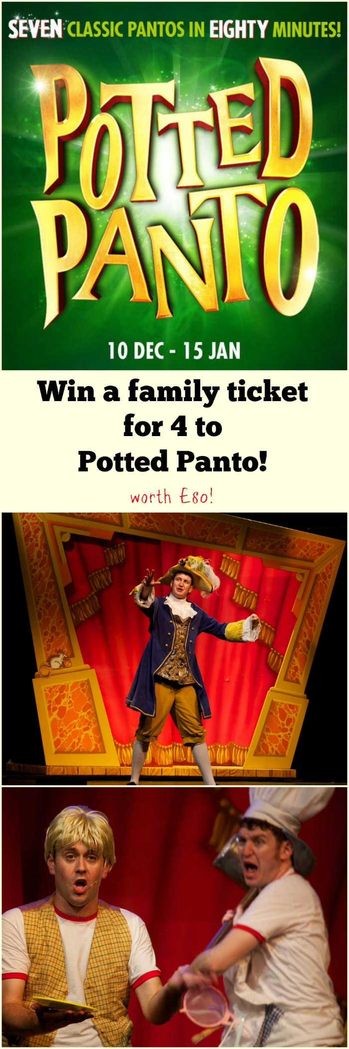 Potted panto ticket giveaway