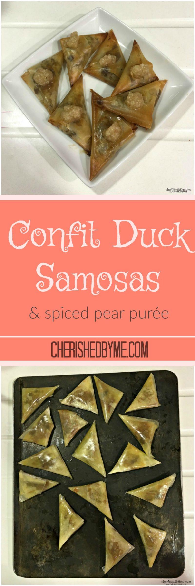 Confit Duck Samosas